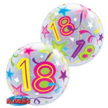 Héliumos Szülinapi Számos Bubble Lufi - 18. 16665fb678
