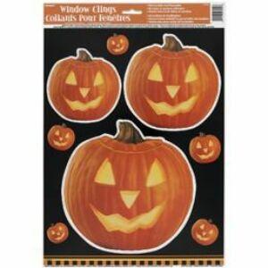 Világító Tök Mintás Halloween Ablakdekoráció