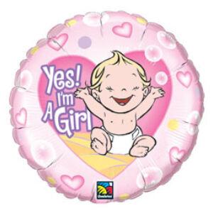 Lány Vagyok - Yes! I Am A Girl Lufi Babaszületésre