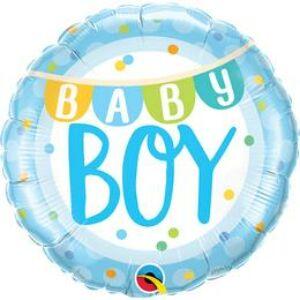 Kisfiú Babaszületésre - Baby Boy Fólia Lufi, 46 cm