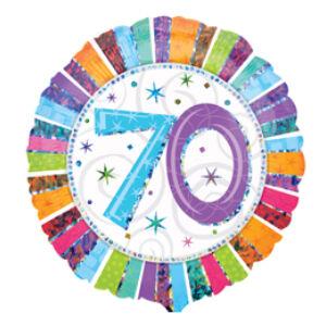 70. Számos Szülinap Születésnapi Héliumos Fólia Léggömb