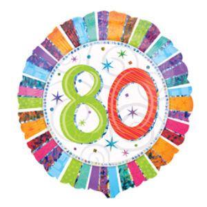 80. Számos Születésnapi Fólia Léggömb