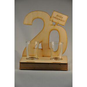 Pálinkás Pohár Szett Születésnapra - 20