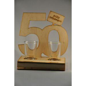 Pálinkás Pohár Szett Születésnapra - 50
