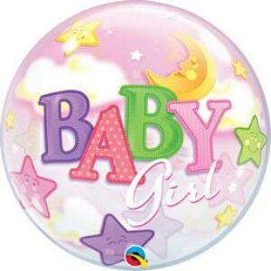 Buborék Lufi Kislány Babaszületésre - Baby Girl