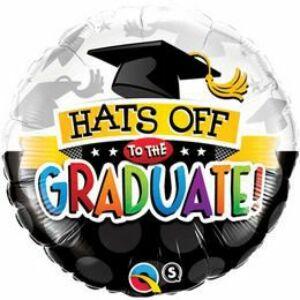 Hats Off To The Graduate! - Ballagási Fólia Lufi, 46 cm