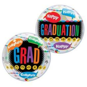 Happy Graduation Congrats Grad Ballagási Buborék Lufi, 56 cm