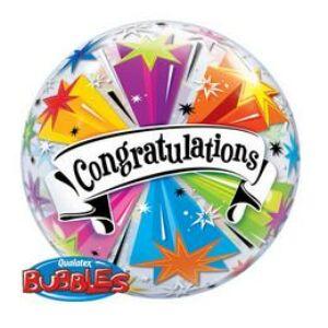 Gratulálunk Héliumos Buborék Lufi - 56cm