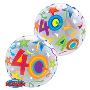 Héliumos Szülinapi Számos Bubble Lufi - 40