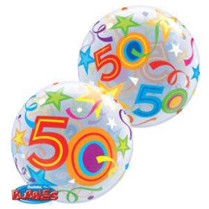 Héliumos Szülinapi Számos Bubble Lufi - 50