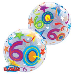 Héliumos Szülinapi Számos Bubble Lufi - 60
