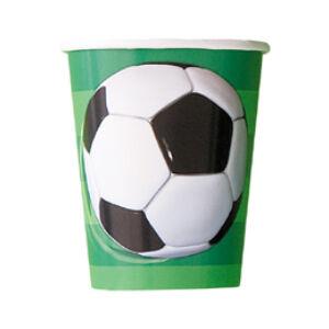 Papír Pohár - Foci 3-D Soccer - 8db