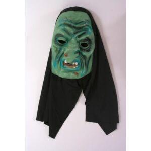 Horror maszk gumi felnőtt zöld boszi