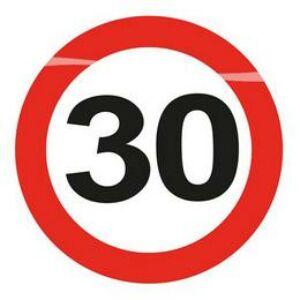 30-As Sebességkorlátozó Szülinapi Led-Es Parti Kitűző