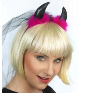 Pink-Fekete Ördögszarv Fekete Fátyollal