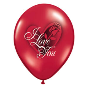 Love You Red Rose Ruby Red Lufi - 28cm