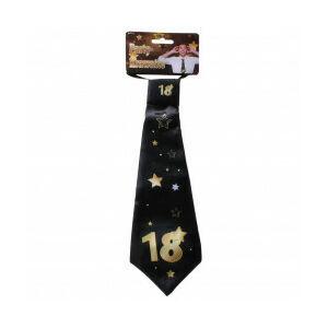 Születésnapi Nyakkendő Arany-Fekete 18. Születésnapra, 32x11 Cm