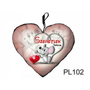 Díszpárna - Kicsi Szív Egérke Szeretlek_PL102