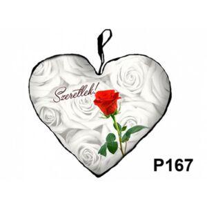 Díszpárna - Szív kicsi Rózsás Szeretlek_P167