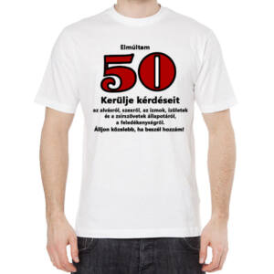 Szülinapi Póló 50. Születésnapra