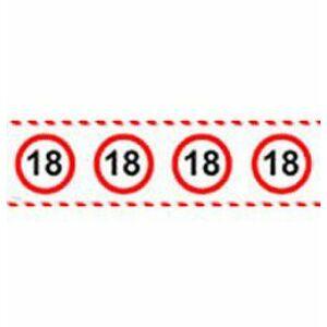 Számos Sebességkorlátozó Szülinapi Parti Szalag 18.