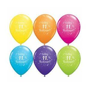Boldog 11. Szülinapot Szülinapi Lufi 6db/csomag