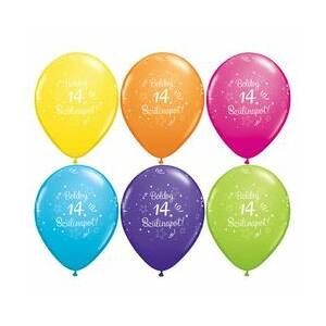 Boldog 14. Szülinapot Szülinapi Lufi 6db/csomag
