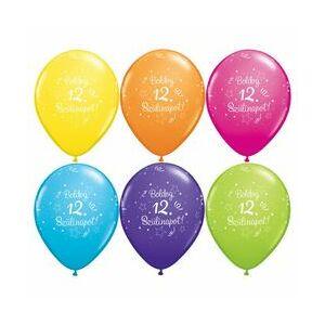 Boldog 12. Szülinapot Szülinapi Lufi 6db/csomag