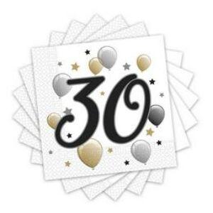 30-as Számos Szülinapi Szalvéta - Elegáns