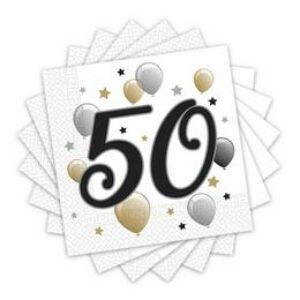 50-es Számos Szülinapi Szalvéta - Elegáns