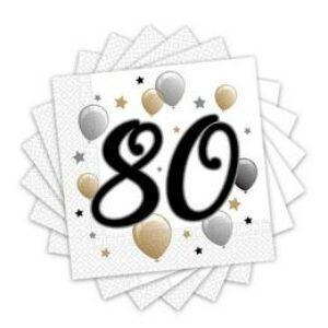 80-as Számos Szülinapi Szalvéta - Elegáns
