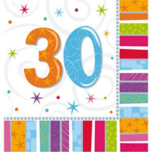 Radiant Szülinapi 30-as Party Szalvéta
