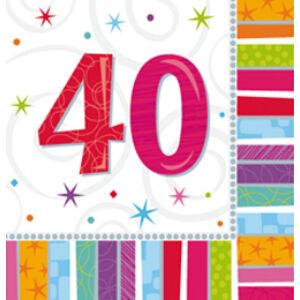 Radiant Szülinapi 40 - es Party Szalvéta