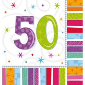 Radiant Szülinapi 50-es Party Szalvéta