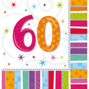 Radiant Szülinapi 60-as Party Szalvéta