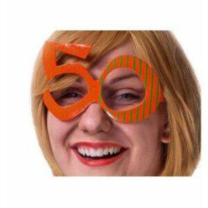 Sárga 50-es Szülinapi Szemüveg