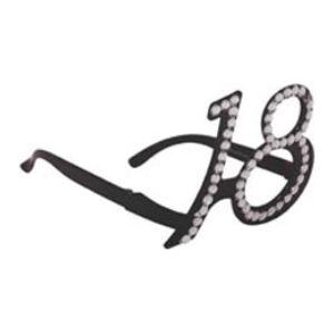 Szülinapi Parti Szemüveg 18-as Fekete