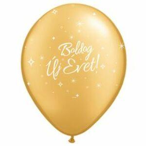 Boldog Új Évet Feliratú Gold (arany) Lufi