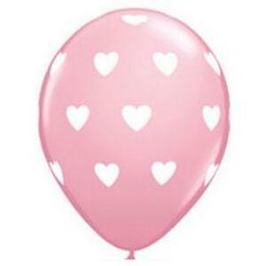 Rózsaszín Pink Szives Gumi Lufi - 28cm