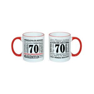 70. Születésnapi Számos Bögre - Tökéletes, Kedves...