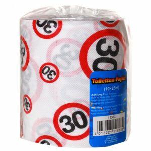 Születésnapi WC Papír 30-Es Számos Sebességkorlátozós