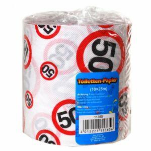 Születésnapi WC Papír 50-Es Számos Sebességkorlátozó