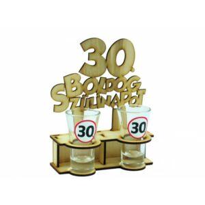 Pálinkás Pohár Szett - Boldog 30. Szülinapot 2db 5cl