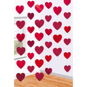 Szives Szerelmes Függő Dekoráció - 2 m, 6 db