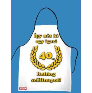 Kötény - Boldog 40. szülinapot!