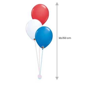 Héliumos Luficsokor 3 db Standard 28 cm-es  Lufiból, Lufinehezékkel