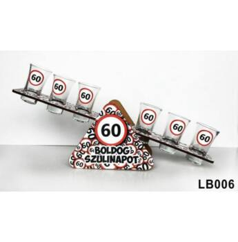 Szülinapi Libikóka - 60 Boldog Szülinapot - 30 cm x 9,5 cm