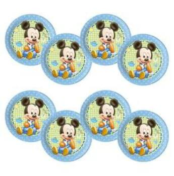 Parti Tányér - Mickey Baby Parti - 8 db