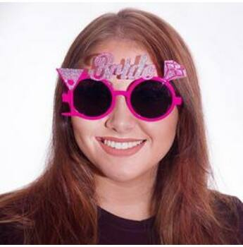 Parti Szemüveg Lánybúcsúra - Csillogó Bride Pink