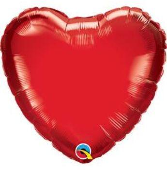 Fólia Lufi - Egyszínű Szív - Rubinvörös